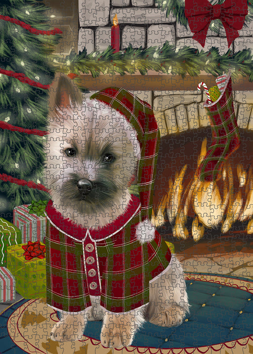 The Stocking was Hung Cairn Terrier Dog Puzzle with Photo Tin PUZL89244