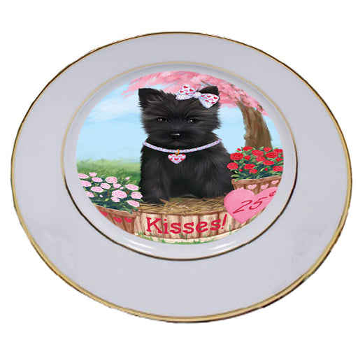 Rosie 25 Cent Kisses Cairn Terrier Dog Porcelain Plate PLT54777