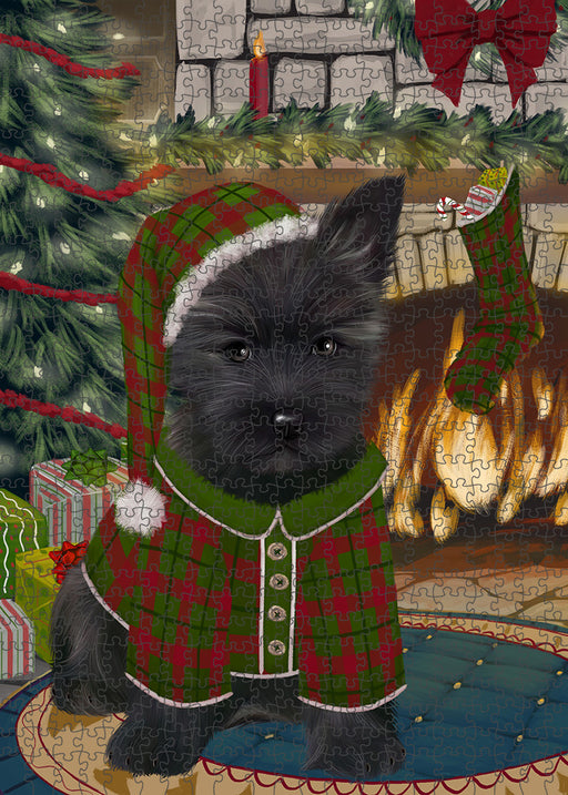 The Stocking was Hung Cairn Terrier Dog Puzzle with Photo Tin PUZL89248