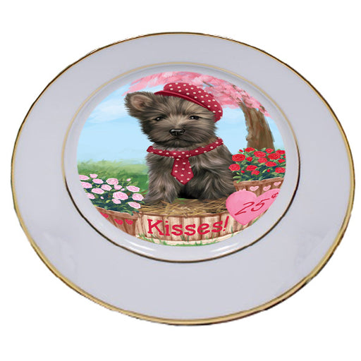Rosie 25 Cent Kisses Cairn Terrier Dog Porcelain Plate PLT54778