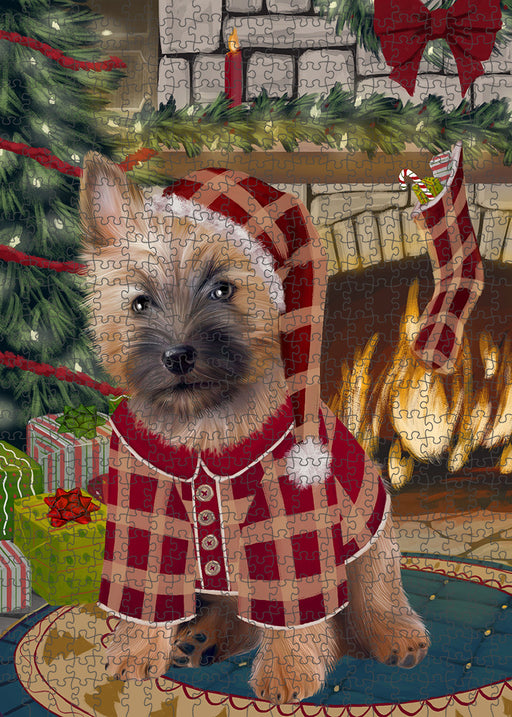 The Stocking was Hung Cairn Terrier Dog Puzzle with Photo Tin PUZL89252