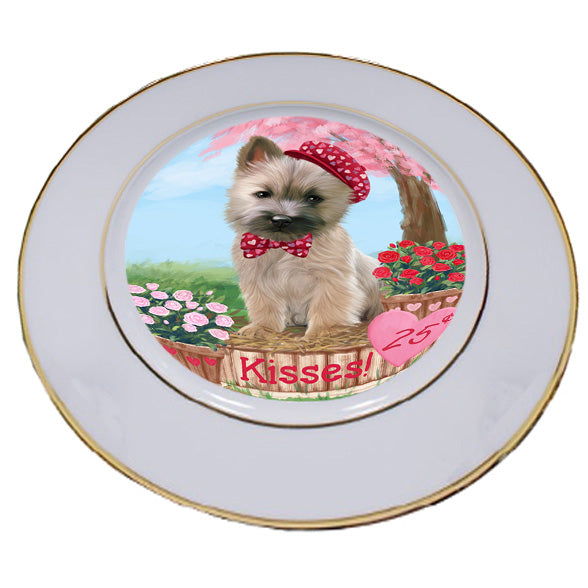 Rosie 25 Cent Kisses Cairn Terrier Dog Porcelain Plate PLT54779