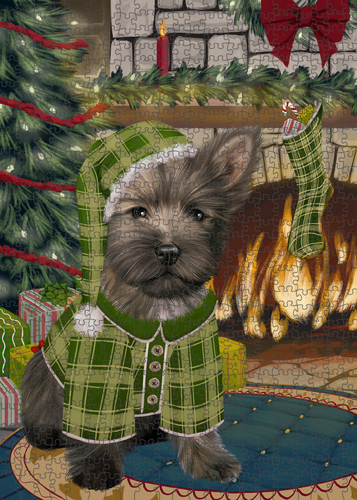 The Stocking was Hung Cairn Terrier Dog Puzzle with Photo Tin PUZL89256