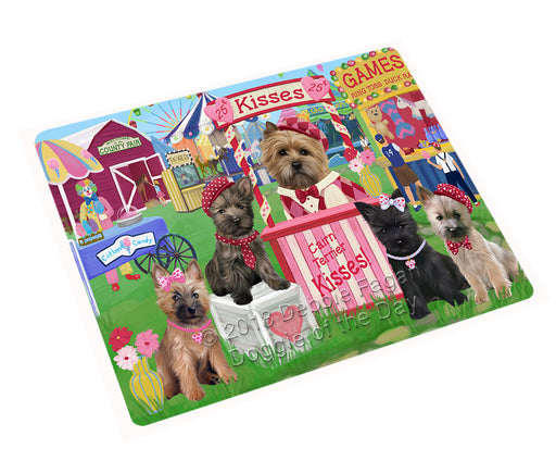 Carnival Kissing Booth Cairn Terriers Dog Large Refrigerator / Dishwasher Magnet RMAG99966