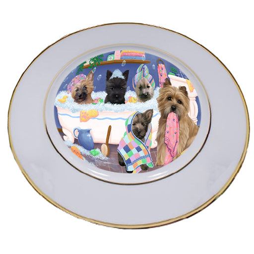 Rub A Dub Dogs In A Tub Cairn Terriers Dog Porcelain Plate PLT55126