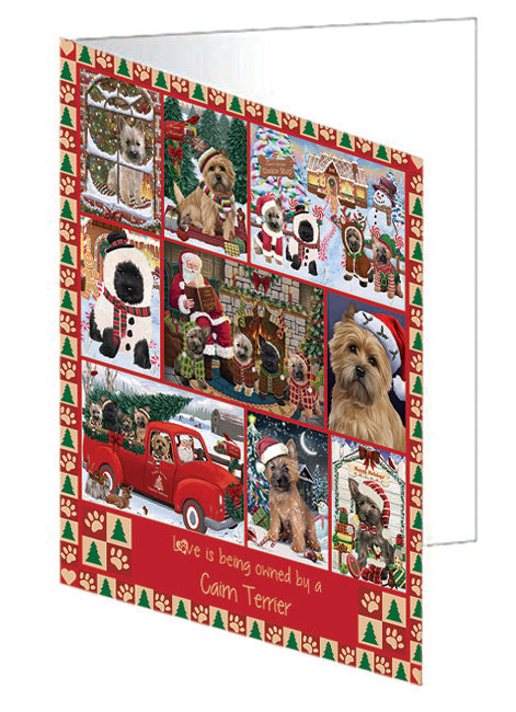 Love is Being Owned Christmas Cairn Terrier Dogs Greeting Card GCD78866