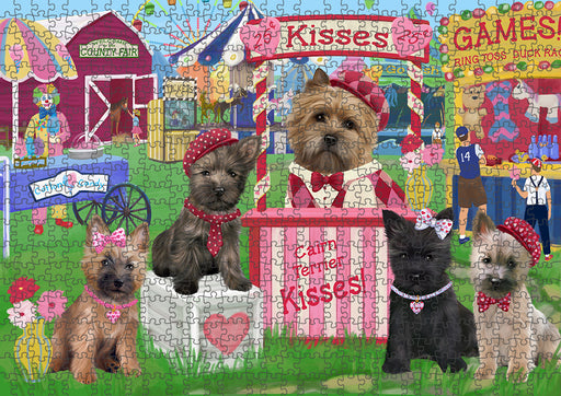 Carnival Kissing Booth Cairn Terriers Dog Puzzle with Photo Tin PUZL93332