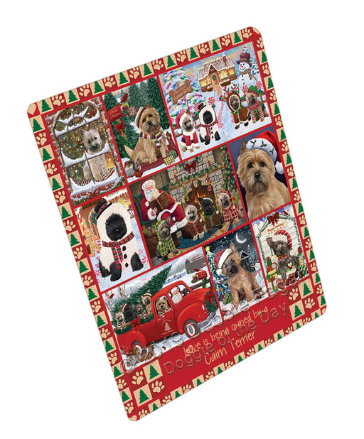 Love is Being Owned Christmas Cairn Terrier Dogs Refrigerator / Dishwasher Magnet RMAG107808