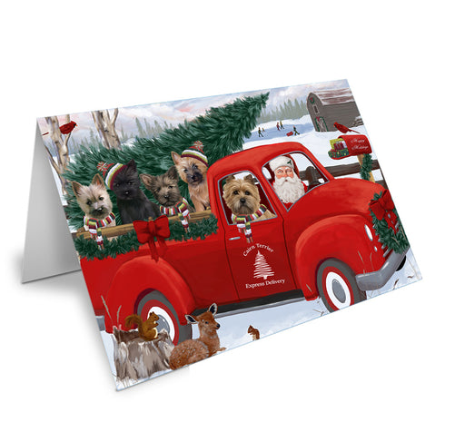 Christmas Santa Express Delivery Cairn Terriers Dog Family Note Card NCD68903