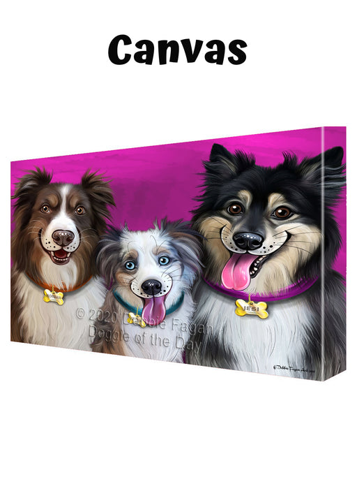 Add Your PERSONALIZED PET Painting Portrait on Canvas Wall Art
