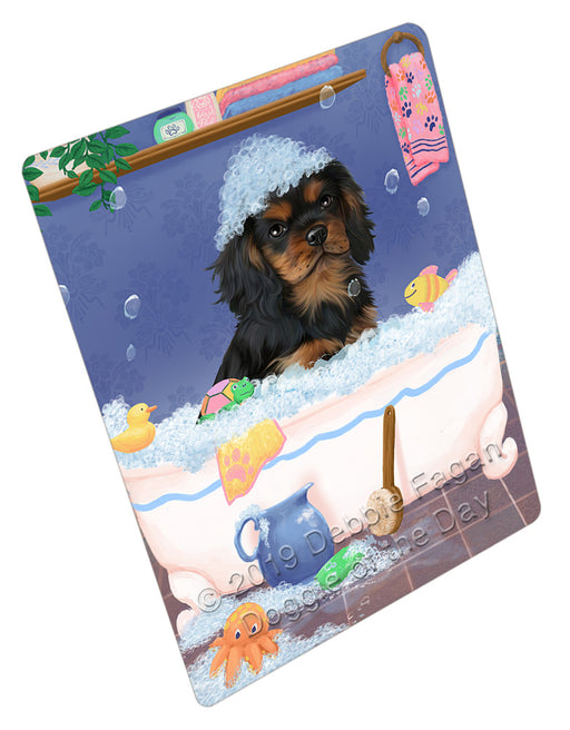 Rub A Dub Dog In A Tub Cavalier King Charles Spaniel Dog Refrigerator / Dishwasher Magnet RMAG108996