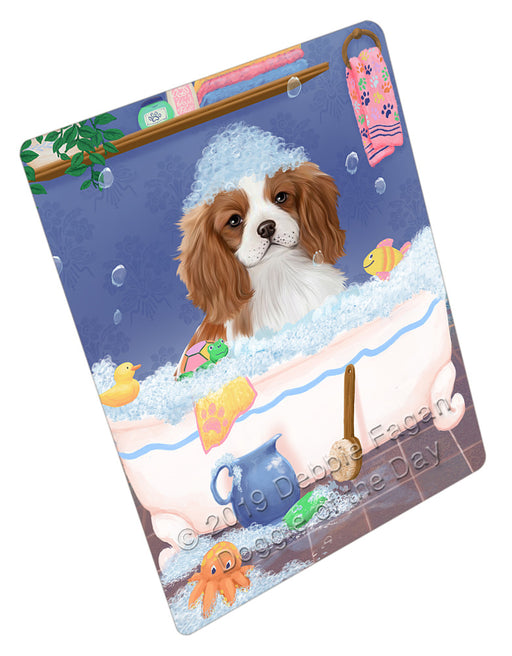 Rub A Dub Dog In A Tub Cavalier King Charles Spaniel Dog Refrigerator / Dishwasher Magnet RMAG108978
