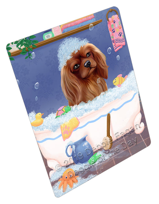 Rub A Dub Dog In A Tub Cavalier King Charles Spaniel Dog Refrigerator / Dishwasher Magnet RMAG108984