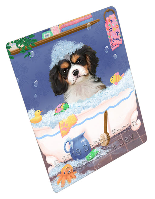 Rub A Dub Dog In A Tub Cavalier King Charles Spaniel Dog Refrigerator / Dishwasher Magnet RMAG108990