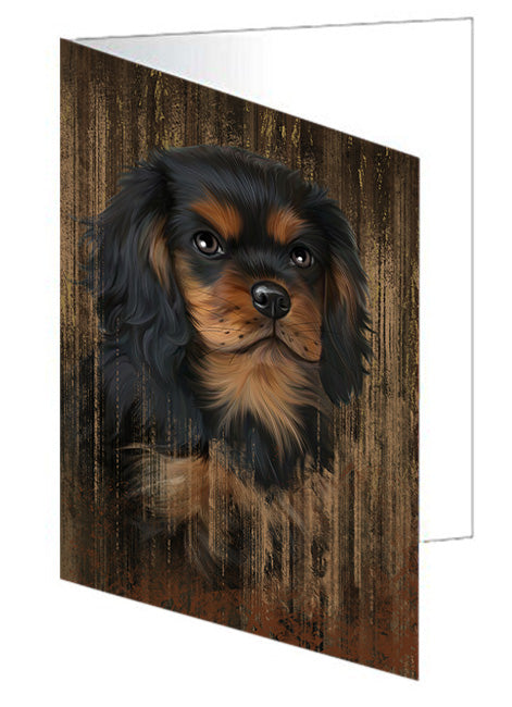 Rustic Cavalier King Charles Spaniel Dog Note Card NCD55166