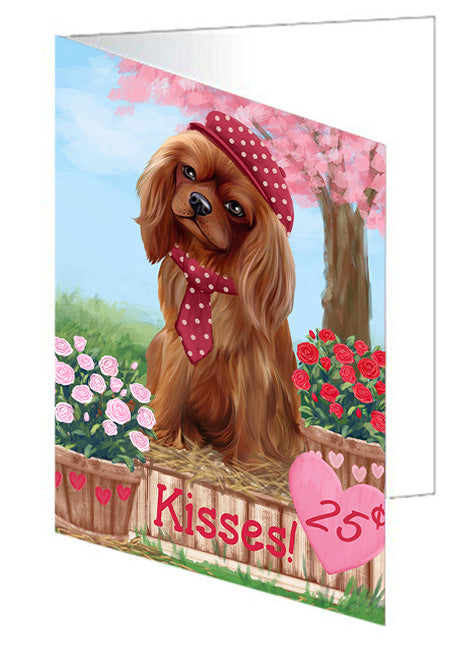 Rosie 25 Cent Kisses Cavalier King Charles Spaniel Dog Note Card NCD73811