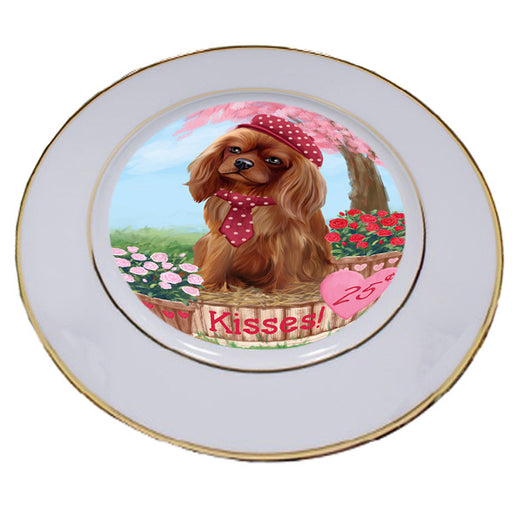 Rosie 25 Cent Kisses Cavalier King Charles Spaniel Dog Porcelain Plate PLT54781