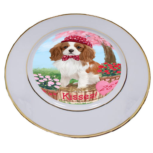 Rosie 25 Cent Kisses Cavalier King Charles Spaniel Dog Porcelain Plate PLT54782