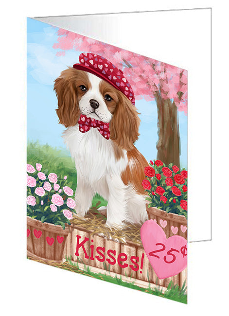 Rosie 25 Cent Kisses Cavalier King Charles Spaniel Dog Note Card NCD73814