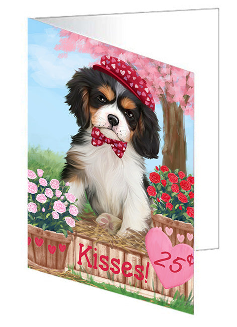 Rosie 25 Cent Kisses Cavalier King Charles Spaniel Dog Note Card NCD73817