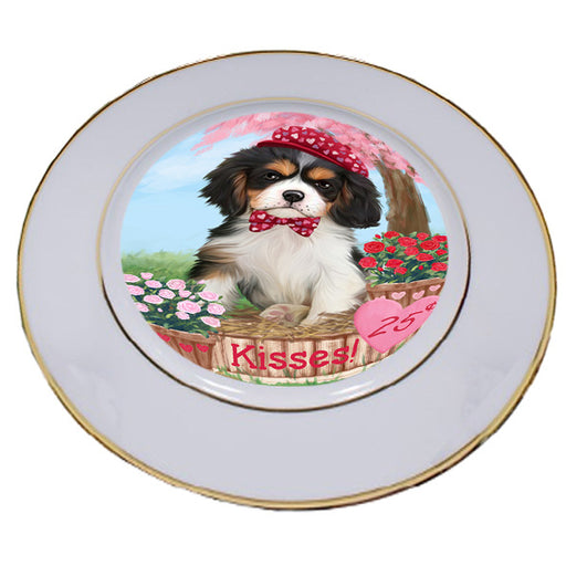 Rosie 25 Cent Kisses Cavalier King Charles Spaniel Dog Porcelain Plate PLT54783