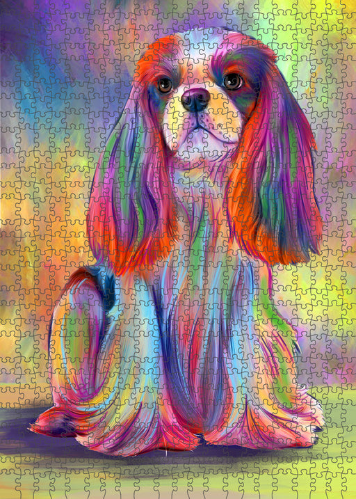 Paradise Wave Cavalier King Charles Spaniel Dog Puzzle with Photo Tin PUZL95000