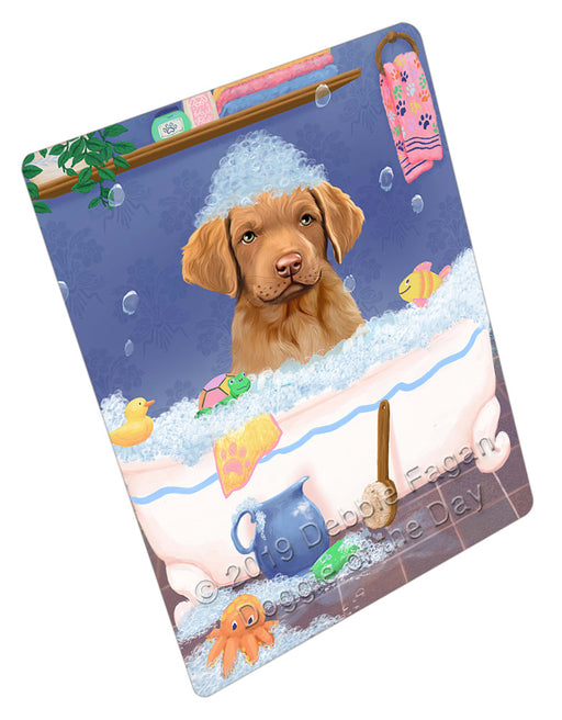 Rub A Dub Dog In A Tub Chesapeake Bay Retriever Dog Refrigerator / Dishwasher Magnet RMAG109014
