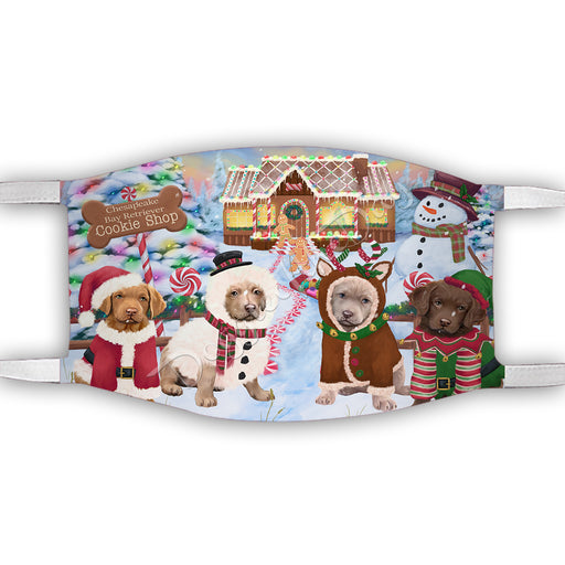 Holiday Gingerbread Cookie Chesapeake Bay Retriever Dogs Shop Face Mask FM48884