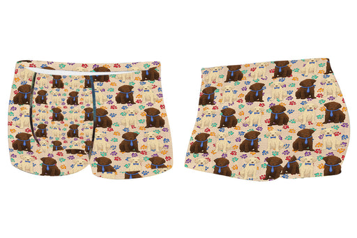 Rainbow Paw Print Chesapeake Bay Retriever Dogs BlueMen's All Over Print Boxer Briefs