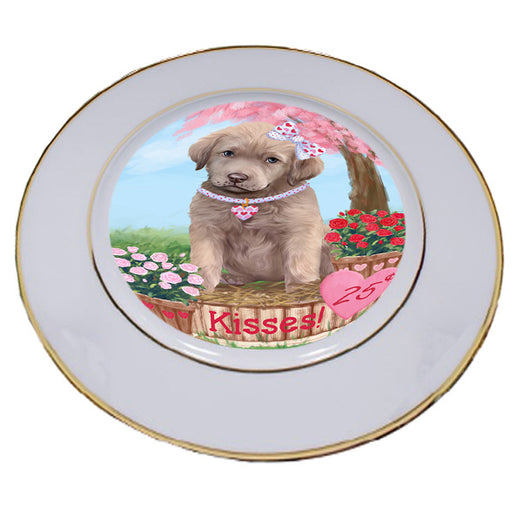 Rosie 25 Cent Kisses Chesapeake Bay Retriever Dog Porcelain Plate PLT54784