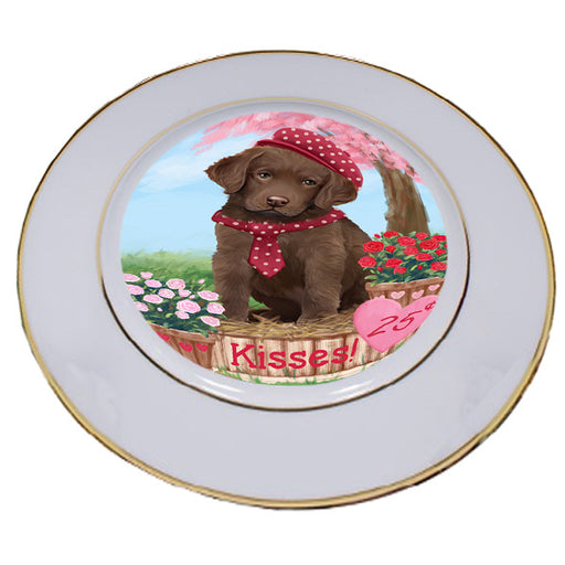 Rosie 25 Cent Kisses Chesapeake Bay Retriever Dog Porcelain Plate PLT54785