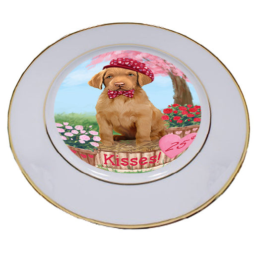 Rosie 25 Cent Kisses Chesapeake Bay Retriever Dog Porcelain Plate PLT54786