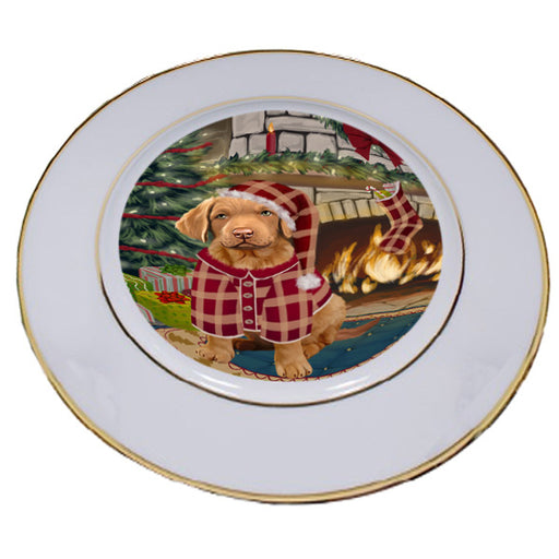 The Stocking was Hung Chesapeake Bay Retriever Dog Porcelain Plate PLT53619