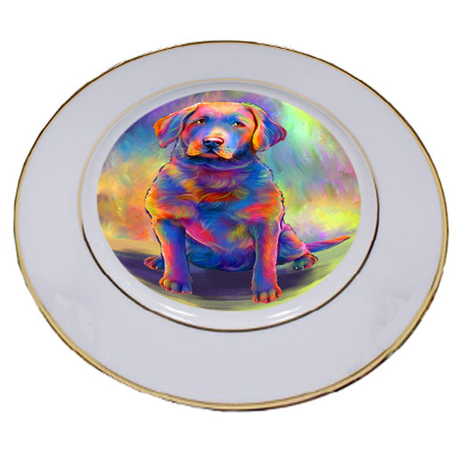 Paradise Wave Chesapeake Bay Retriever Dog Porcelain Plate PLT55050