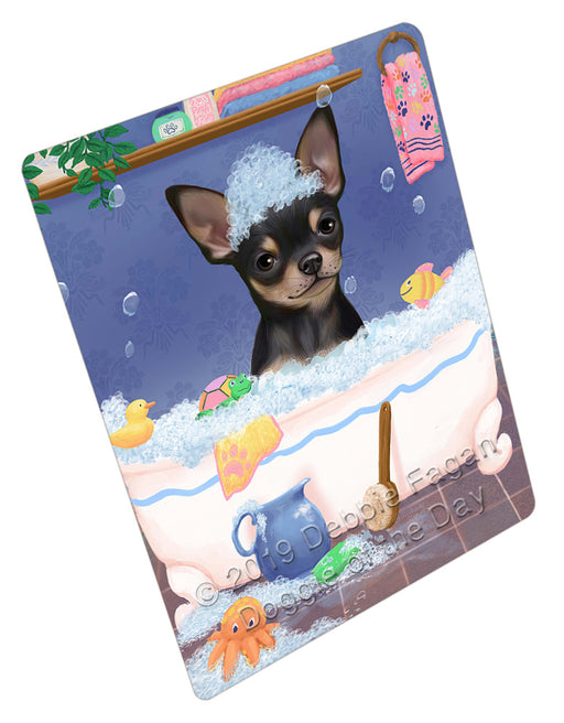 Rub A Dub Dog In A Tub Chihuahua Dog Refrigerator / Dishwasher Magnet RMAG109020