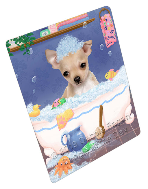 Rub A Dub Dog In A Tub Chihuahua Dog Refrigerator / Dishwasher Magnet RMAG109026