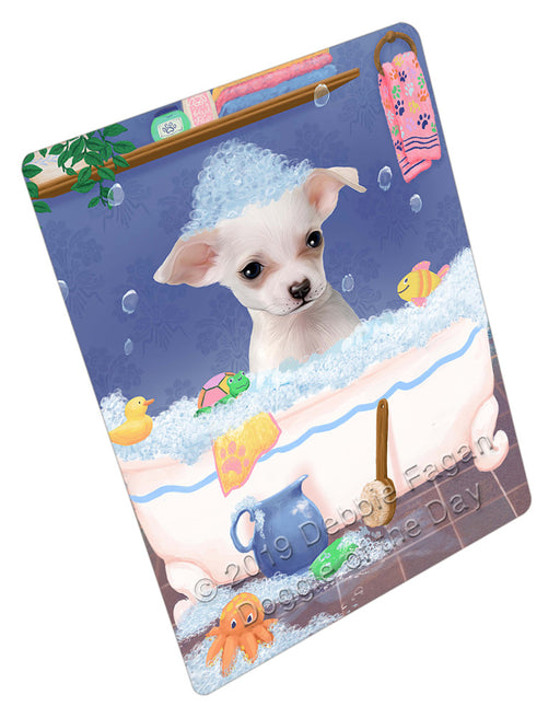 Rub A Dub Dog In A Tub Chihuahua Dog Refrigerator / Dishwasher Magnet RMAG109032