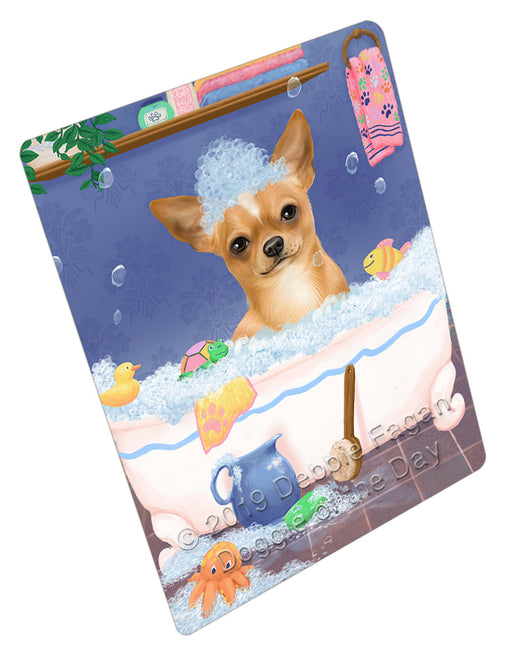 Rub A Dub Dog In A Tub Chihuahua Dog Refrigerator / Dishwasher Magnet RMAG109038