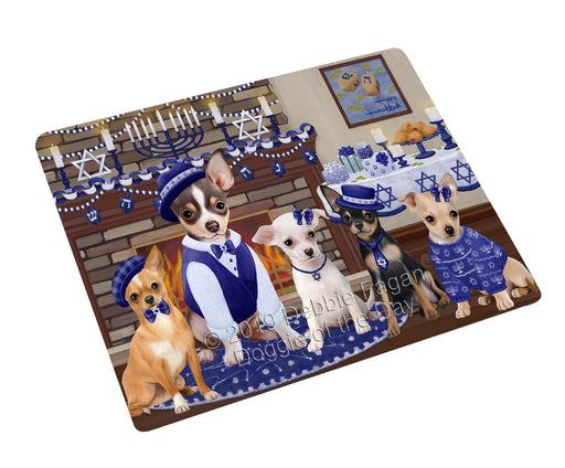 Happy Hanukkah Family and Happy Hanukkah Both Chihuahua Dogs Large Refrigerator / Dishwasher Magnet RMAG105426