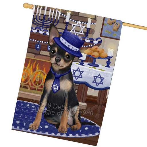 Happy Hanukkah Family and Happy Hanukkah Both Chihuahua Dog Garden Flag GFLG65710