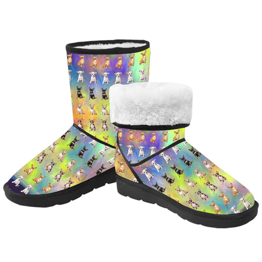 Paradise Wave Chihuahua Dogs  Kid's Snow Boots