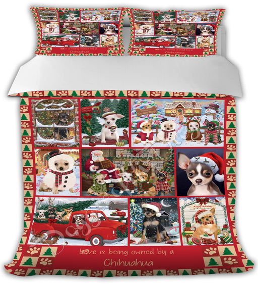 Love is Being Owned Christmas Chihuahua Dogs Bed Comforter CMFTR48903