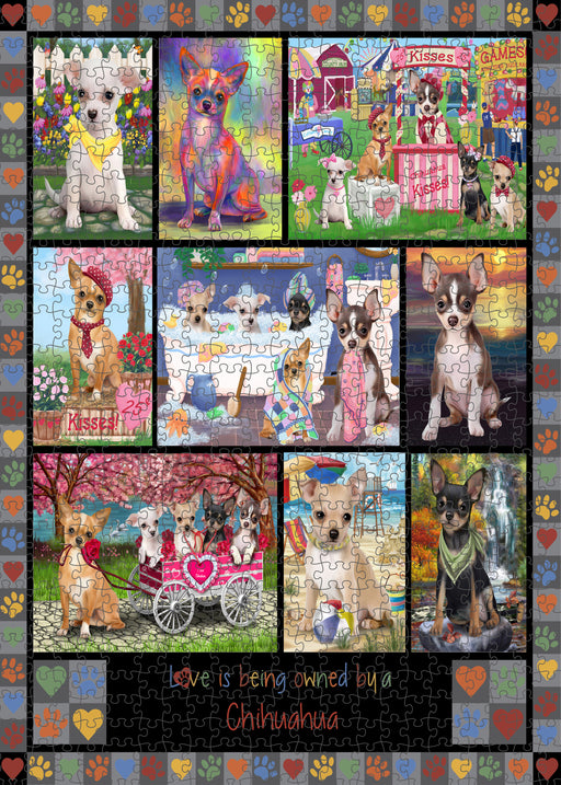 Love is Being Owned Chihuahua Dog Grey Puzzle with Photo Tin PUZL98376
