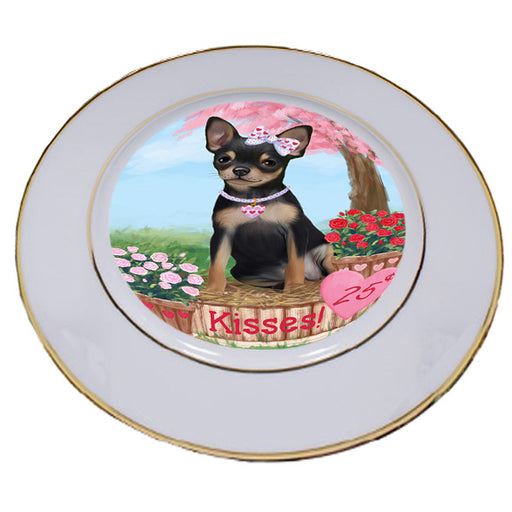 Rosie 25 Cent Kisses Chihuahua Dog Porcelain Plate PLT54787