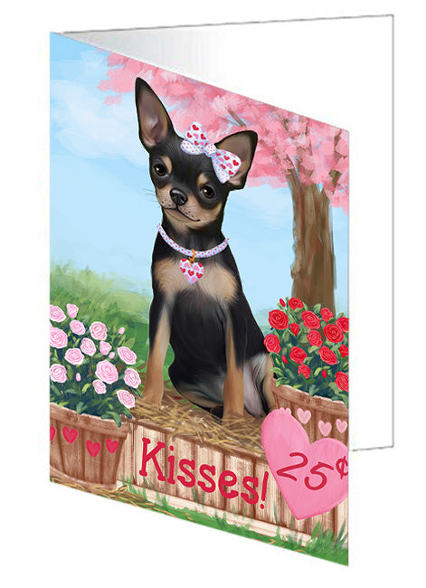 Rosie 25 Cent Kisses Chihuahua Dog Note Card NCD73829