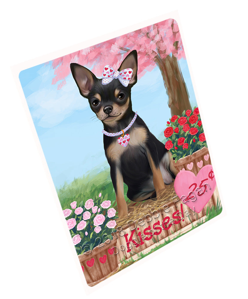 Rosie 25 Cent Kisses Chihuahua Dog Large Refrigerator / Dishwasher Magnet RMAG100896