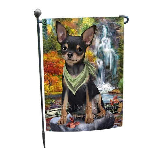 Scenic Waterfall Chihuahua Dog Garden Flag GFLG51852