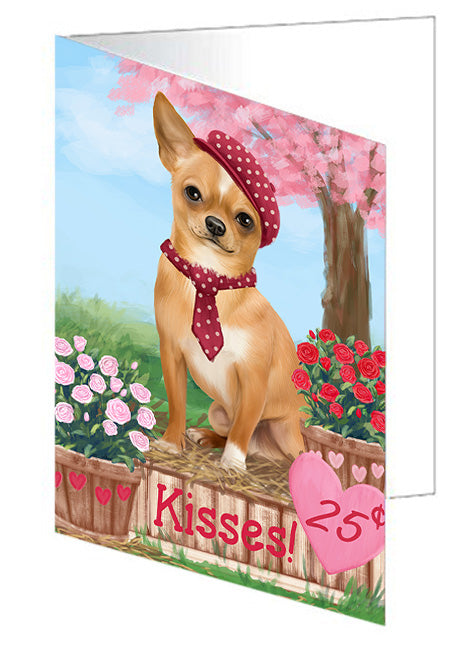 Rosie 25 Cent Kisses Chihuahua Dog Note Card NCD73832