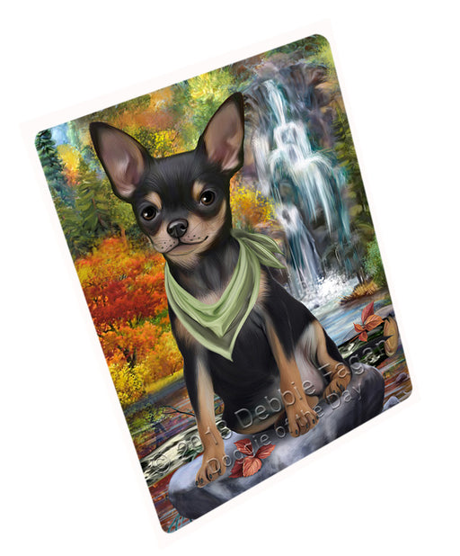 "Scenic Waterfall Chihuahua Dog Magnet Mini (3.5"" x 2"") MAG59814"