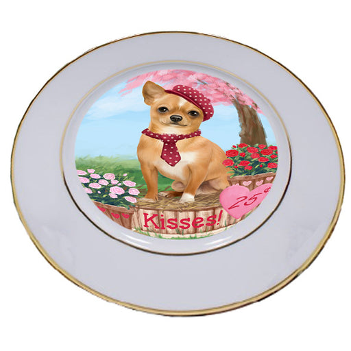 Rosie 25 Cent Kisses Chihuahua Dog Porcelain Plate PLT54788